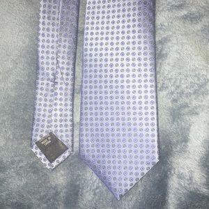 Blue pattern tie